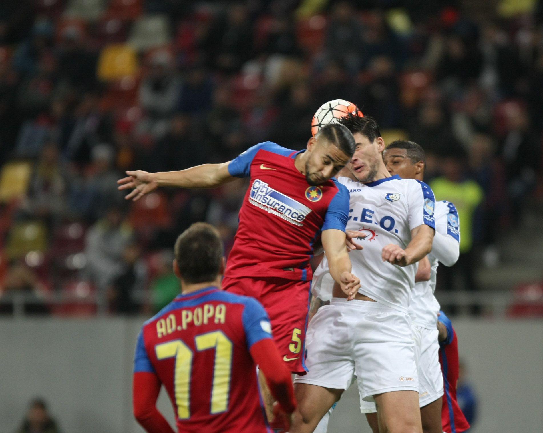 Liga I, etapa a 15-a. Steaua – Pandurii 1-1. Gorjenii au făcut legea la Bucureşti, dar au scăpat victoria printre degete. Răduţ a deschis scorul, iar Hora a trimis balonul în bară. Campioana, care şutat pe poartă de abia în minutul 66, a egalat pe final, prin Muniru / FOTO