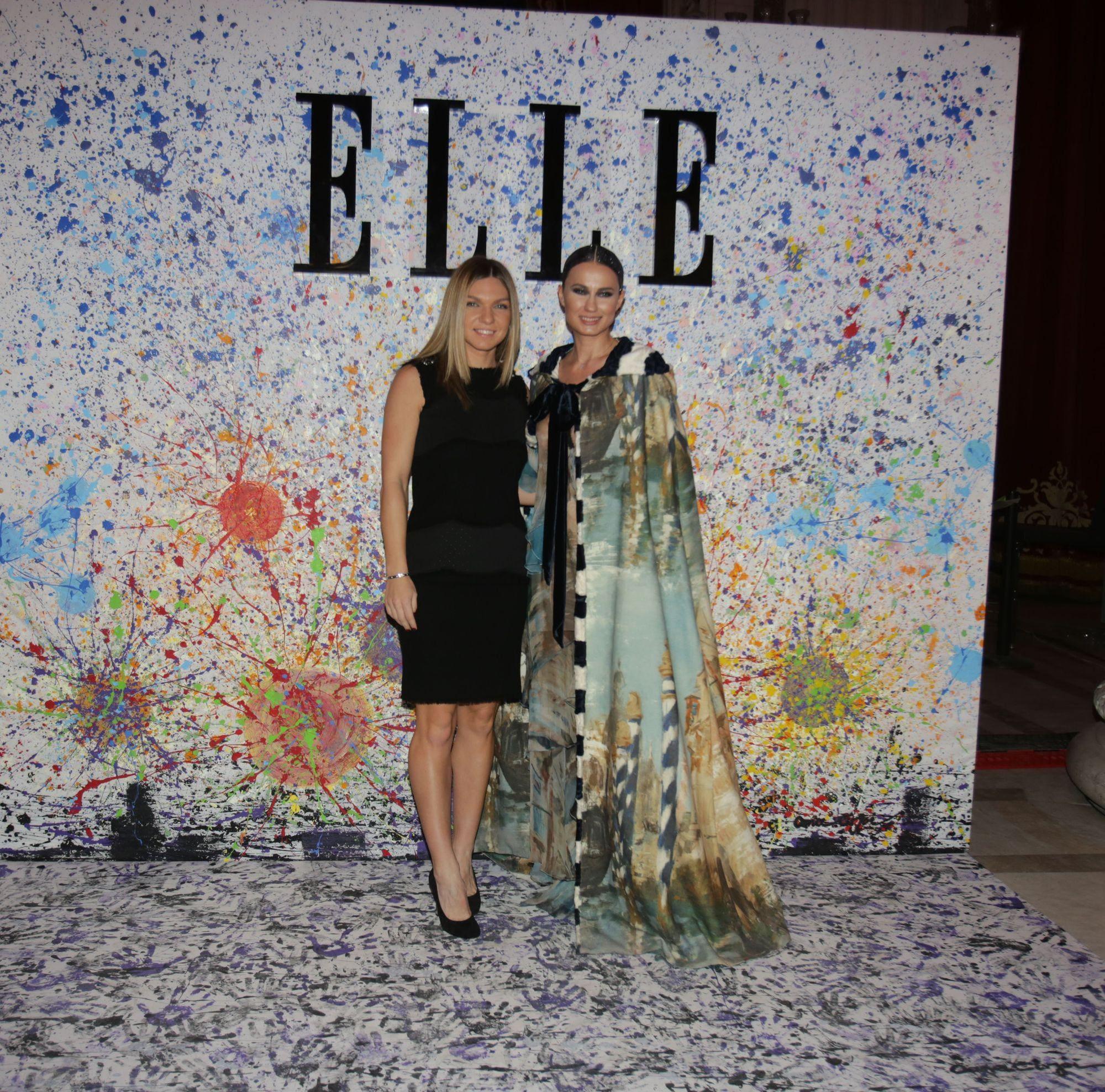 Simona Halep și Roxana Voloseniuc la Gala Elle Style Awards 2017