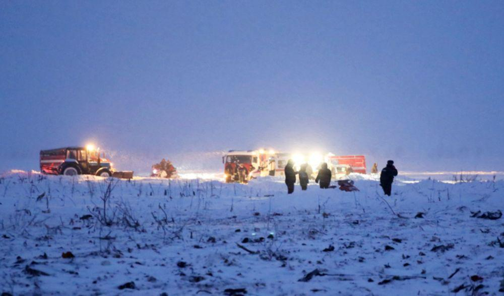 Passenger plane crash in Moscow region