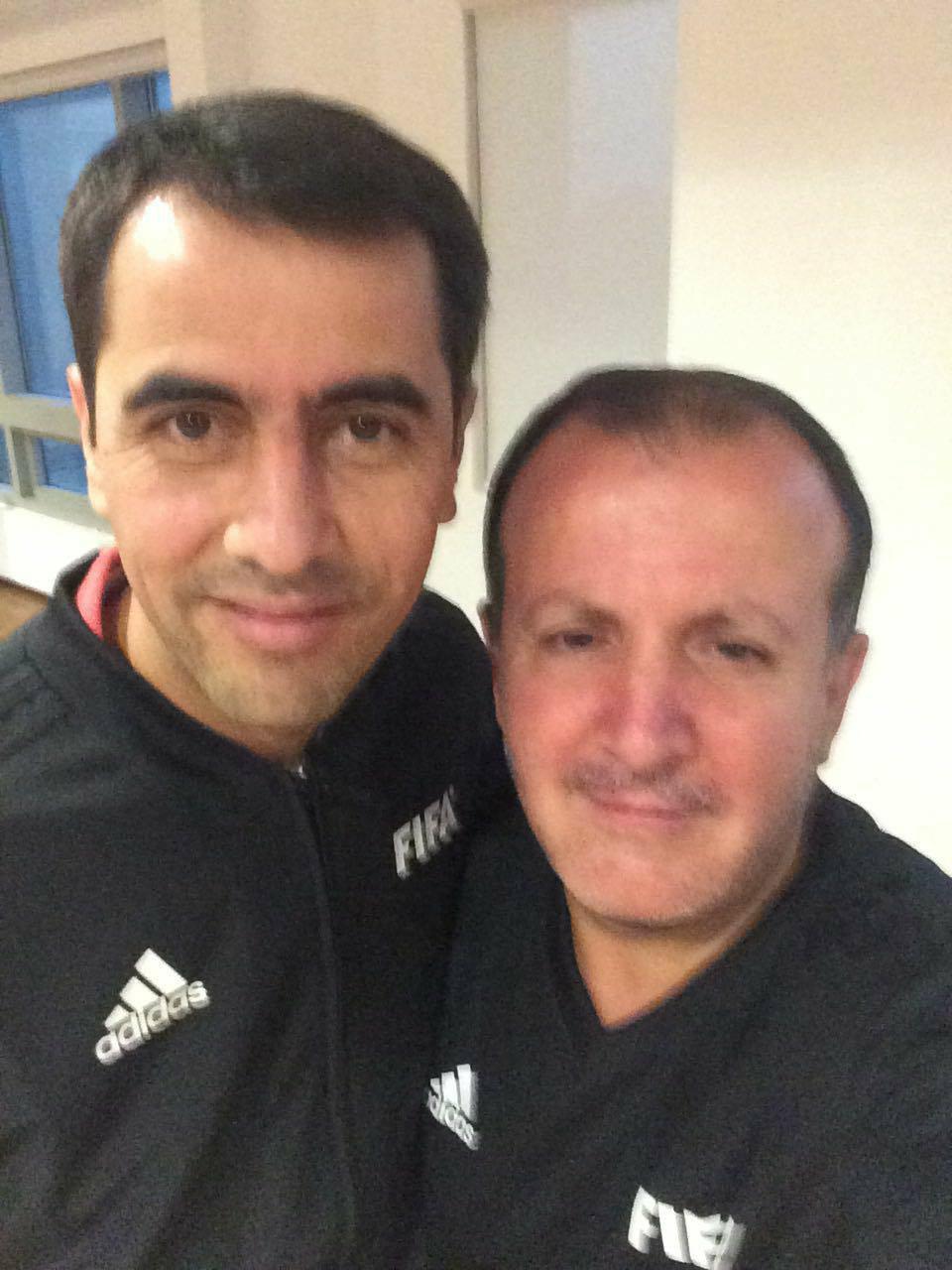 EXCLUSIV / Un român le face masaj arbitrilor de la CM 2018. Cristi Tănase îl răsfață și pe Pierluigi Collina / GALERIE FOTO