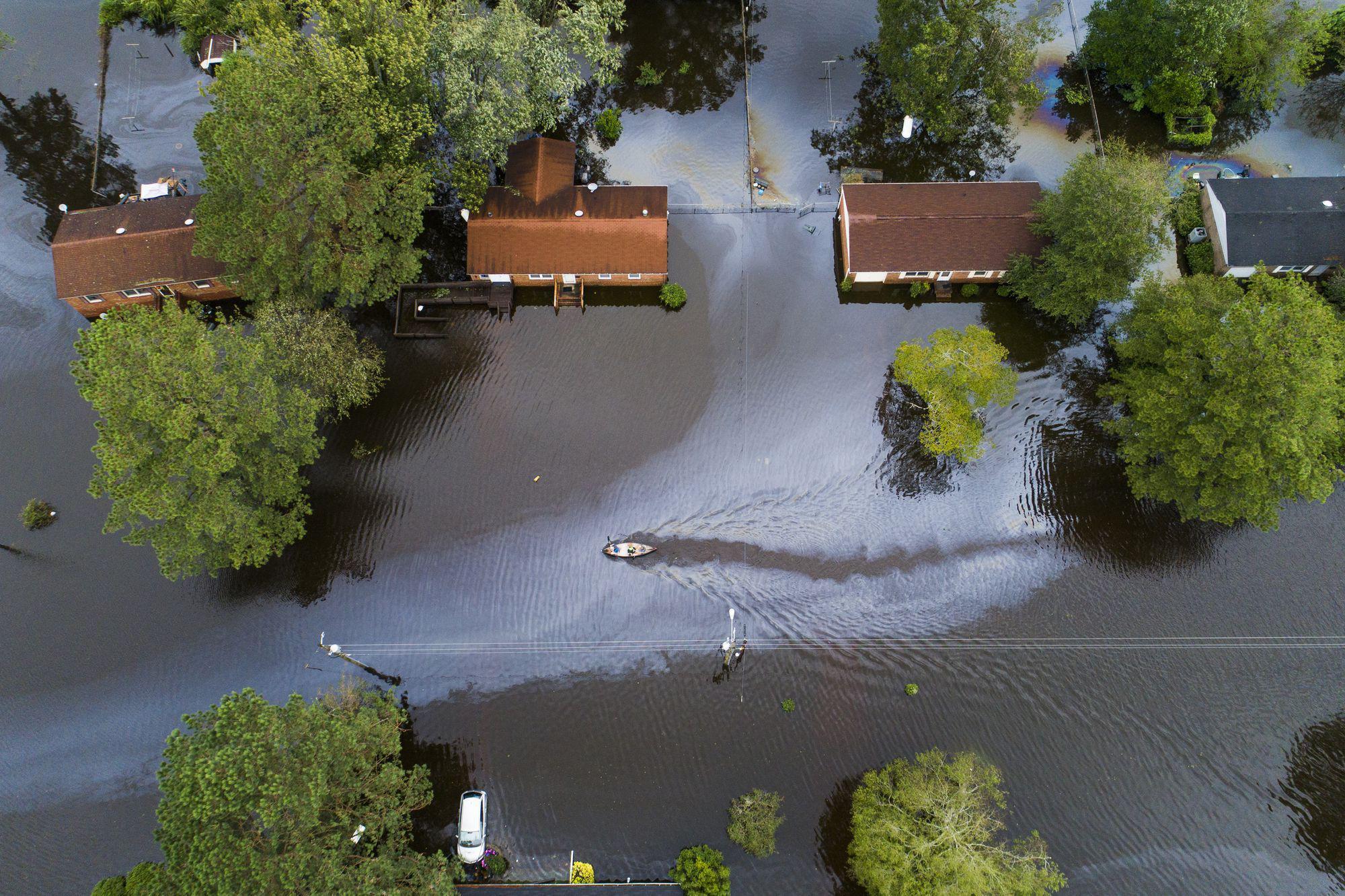 Hurricane Florence Strikes East Coast of United States