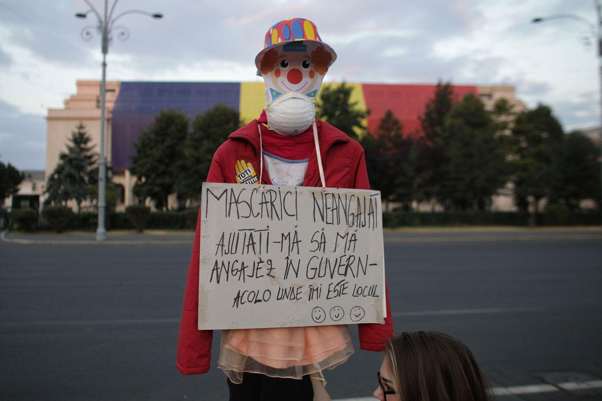 Protest în Piața Victoriei la o lună de la incidentele din 10 august 2018