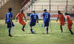 The first Amputee football Teams' match in Gaza