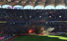 România va fi din nou suspendată, după incidentele de la meciul cu Serbia