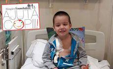 Andrei are peste 300 de celule canceroase la cap. Pentru tratamentul care îi oferă o șansă la viață, micuțul de cinci ani are nevoie de 12.000 de lei