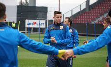 Amical România U21 – Belgia U21 (azi, 19.00, Pro X). Tricolorii mici s-au antrenat la Cluj-Napoca