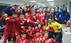 România – Gibraltar 8-0, meci de calificare la Turul de Elită U19. Cadou de la greci. Tricolorii merg mai departe