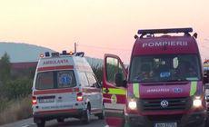 Accident grav pe DN 10. Șapte oameni au fost răniți. Pompierii au intervenit de urgență