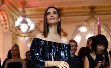FOTO/ Andreea Berecleanu s-a afișat cu o rochie suspect de largă, la Gala Elle Style Awards 2018