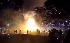 VIDEO | Ploaie de foc la un festival din Myanmar. Un balon cu aer plin cu artificii a explodat
