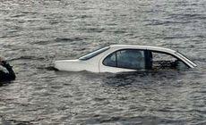 De frică, o șoferiță și-a scufundat mașina într-un lac. Ce a speriat-o atât de tare pe femeie