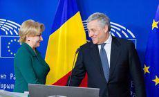 Preşedintele Parlamentului European, vizită în România. Întâlnire cu Viorica Dăncilă, la Guvern şi discurs în plenul Parlamentului