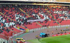 Suporterii sârbi, mesaj de suflet pentru fanii români. S-a întâmplat la meciul Serbia – Muntenegru 2-1