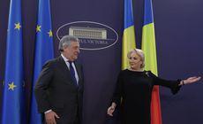 """VIDEO / Preşedintele Parlamentului European, primit de Viorica Dăncilă la Palatul Victoria: """"A venit momentul să accelerăm aderarea României la Schengen"""""""