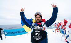 Iulian Rotariu, un pompier din Botoșani, a alergat la Polul Sud pentru copiii cu autism. Efortul militarului, la minus 60 de grade Celsius / FOTO