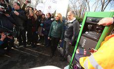 FOTO | Primele stații de încărcare a mașinilor electrice din București, inaugurate. Gabriela Firea a participat la eveniment