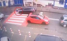 O fetiță din Portugalia a fost lovită pe trecerea de pietoni și a scăpat miraculos. Imagini șocante cu momentul accidentului / VIDEO