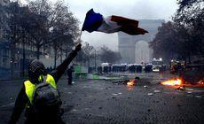 """Protestele """"vestelor galbene"""", o """"catastrofă economică"""" pentru Franța"""