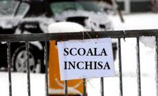 Aproape 60 de școli din trei județe vor fi închise pe 18 ianuarie, din cauza vremii nefavorabile