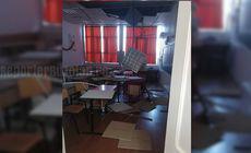 Incident grav într-un liceu din Buzău! Tavanul s-a prăbușit în clasa unde elevii dădeau teză