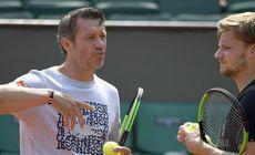 Noul antrenor al Simonei Halep: s-a încălzit pentru meciul cu Serena cu tehnicianul belgian Thierry Van Cleemput