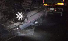 Accident cu 2 mașini și două TIR-uri pe Valea Oltului! Două persoane au fost rănite