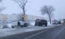 Accident mortal lângă Salonta, din cauza unui șofer care circula cu anvelope de vară