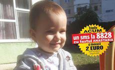 Viață cu termen-limită pentru micuța Anastasia, un an și 8 luni. Totul depinde de o operație în Germania, care costă 165.000 de euro