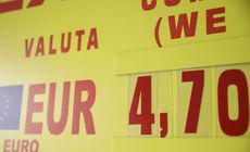 Euro a trecut oficial de 4,7 lei la cursul BNR