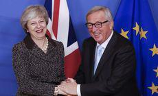 Theresa May, întâlnire neprogramată cu Jean-Claude Juncker la cererea premierului Marii Britanii