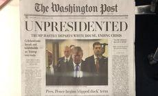 FOTO | Ziare false The Washington Post, distribuite în SUA. Informația incredibilă pe care o aveau pe prima pagină