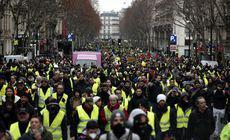 Vestele galbene, a 15-a sâmbătă de proteste. Peste 11.000 de oameni au ieșit în stradă