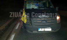 FOTO & VIDEO / Pieton accidentat mortal de un microbuz, pe DN 39, lângă Agigea
