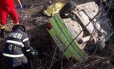 Accident teribil în Arad, în care au fost implicate trei autoturisme și un camion cu butelii. O persoană a decedat