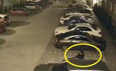 VIDEO | O hoață a fost filmată în timp ce a spart o mașină într-o parcare din Oradea!