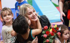 Imagini emoționante cu Nadia Comăneci la sala e gimnastică din Otopeni. Cât costă să-ți duci copilul la GymNadia