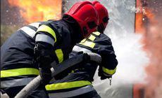 Incendiu într-un bloc din Lugoj: 20 de persoane au fost evacuate