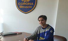 Neagu a semnat cu Corona Brașov. Este de 8 ani la gruparea de sub Tâmpa