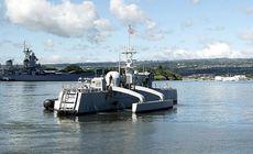 O navă militară fără echipaj a ajuns pe o insulă la peste 4.000 de kilometri distanță. E controlată de la distanță și concepută să distrugă submarinele inamice / VIDEO