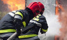 Incendiu violent în Sectorul 1 din București. O clădire de birouri a fost mistuită de flăcări