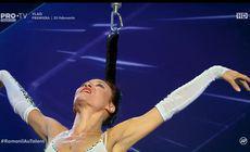 A dansat la înălțime atârnată de păr. Cel mai original moment de la Românii au talent | FOTO