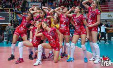 Finala Cupei CEV, meciul-tur: Volei Alba Blaj – Busto Arsizio 0-3. Formația sponsorizată de un producător de lenjerie intimă a făcut spectacol