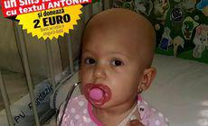 Micuța Antonia a trecut cu bine de primul transplant de celule stem. Fetița are încă nevoie de ajutorul nostru pentru a putea strânge 20.000 de euro