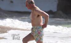 Prințul Charles și Camilla, filmați pe plajă, în costum de baie. Cum arată la 70 de ani