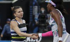 """Simona Halep, a patra oară în """"sferturi"""" la Miami. S-a descotorosit iute de o Venus suferindă, bandajată la mâini și la picioare. Urmează Qiang Wang"""