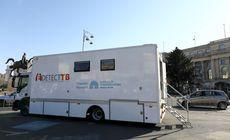 Laborator mobil pentru depistarea tuberculozei. În centrul Bucureștiului. De luni se mută la Spitalul Sf. Ioan |FOTO