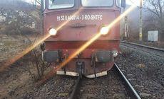 Locomotiva unui tren Regio a deraiat în judeţul Suceava. Traficul feroviar este blocat