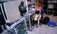 VIDEO | Un polițist s-a sinucis în fața iubitei sale! A mers la magazinul unde lucrează femeia și și-a tras un glonț în cap
