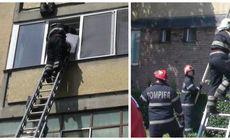 Tatăl și-a încuiat copilul în casă, iar pompierii l-au scos pe geam. Intervenție spectaculoasă la Oradea