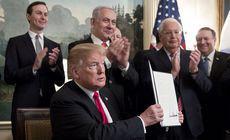 Donald Trump a recunoscut, oficial, înălțimile Golan ca aparținând Israelului
